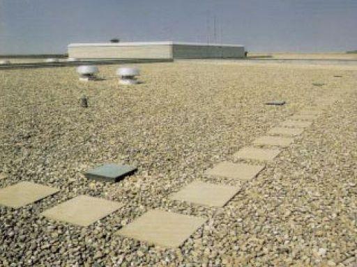 Hoeveel grind op plat dak