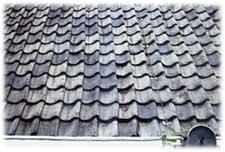 Oud hollandse dakpannen grijs