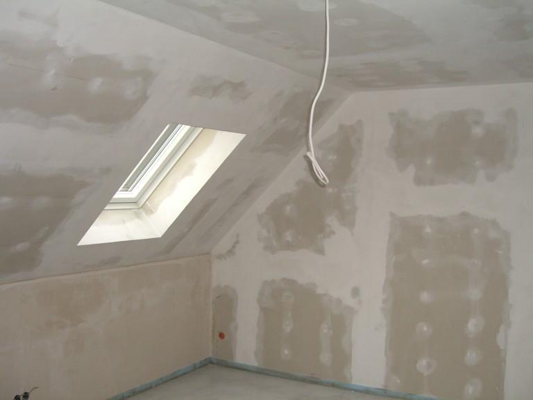 van een huis Plafonds afwerking gipsplaten afwerking gipsplaten