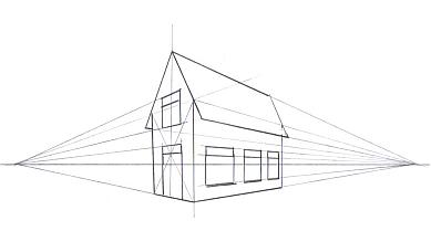 Perspectief en projectie for Kamer 3d tekenen