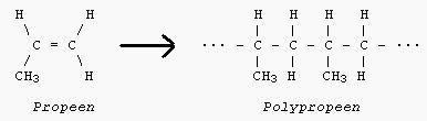 Polypropyleen structuurformule