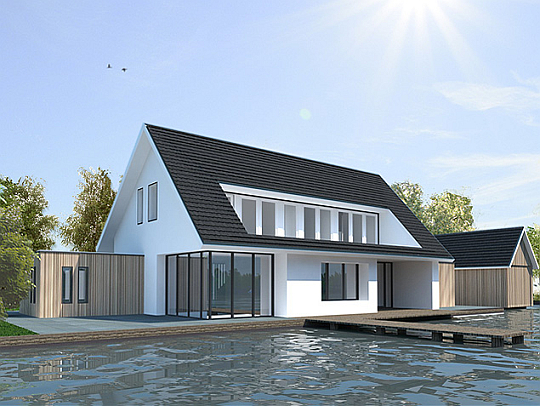 Rendering - Huis architect hout ...