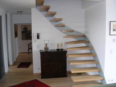 Zwevende trap for Dikte traptreden hout