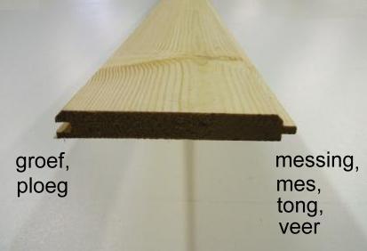 Geimpregneerde planken mes en groef