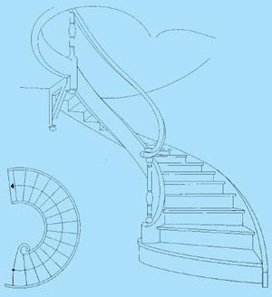 Wenteltrap for Looplijn trap